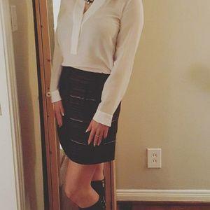 Jcrew Metallic Tweed Skirt
